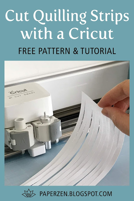 How to Cut Quilling Strips with Cricut: Free SVG Pattern Files