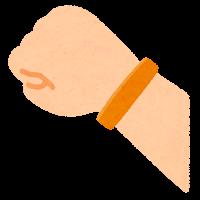 シリコンバンドのイラスト(オレンジ)