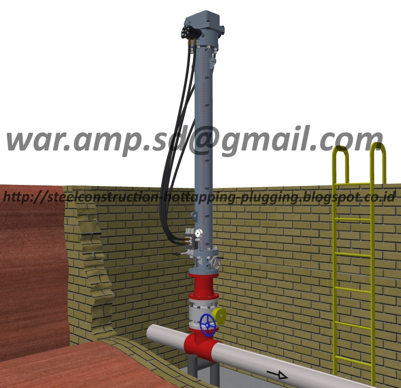 HOT TAPPING MACHINE,STOPPLE PLUGGING EQUIPMENT,STEEL CONSTRUCTION