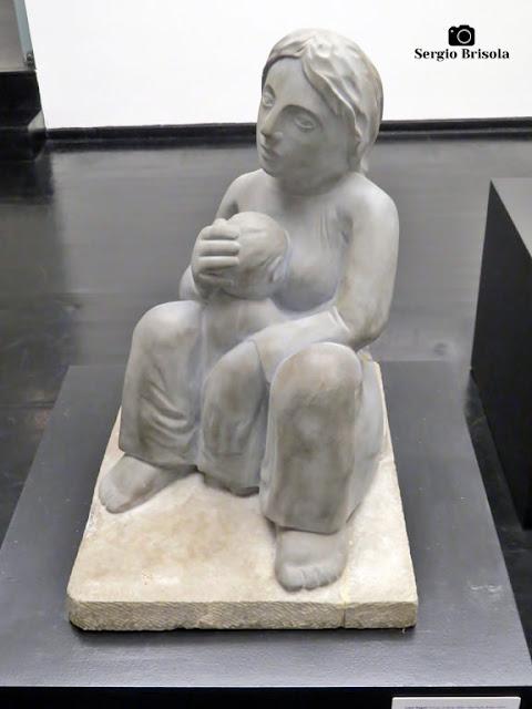 Close-up da Obra Maternidade - Museu Lasar Segall - São Paulo