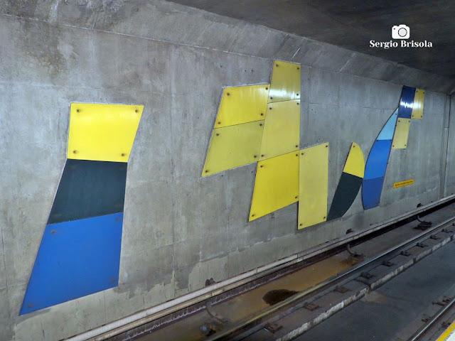 Vista de parte do Painel Sem título de 1990 - Estação São Bento do Metrô de São Paulo