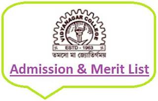 Vidyanagar College Merit List