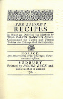 "Title page for ""The Squire's Recipes."""