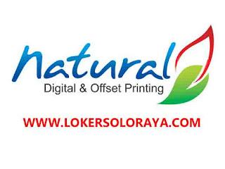 Loker Solo Raya Agustus 2020 di Natural Digital & Offset Printing
