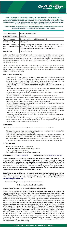 Concern Worldwide Job Circular 2021Concern Worldwide Job Circular 2021