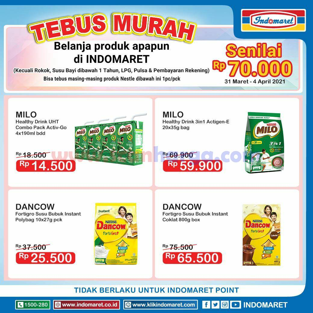 INDOMARET Promo TEBUS MURAH 31 Maret - 4 April 2021 2
