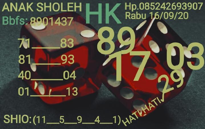 Kode syair Hongkong Rabu 16 September 2020 21
