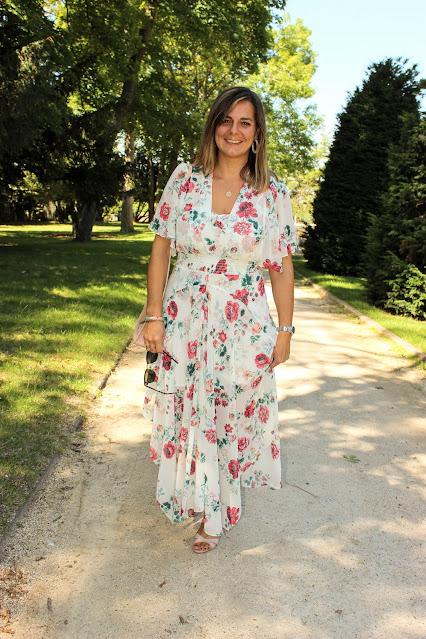 robe maje fleurie, mariage reporté, look du jour, les petites bulles de ma vie