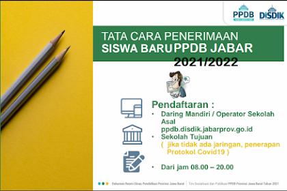 Jadwal Pendaftaran PPDB SMA SMK SLB JAWA BARAT 2021/2022