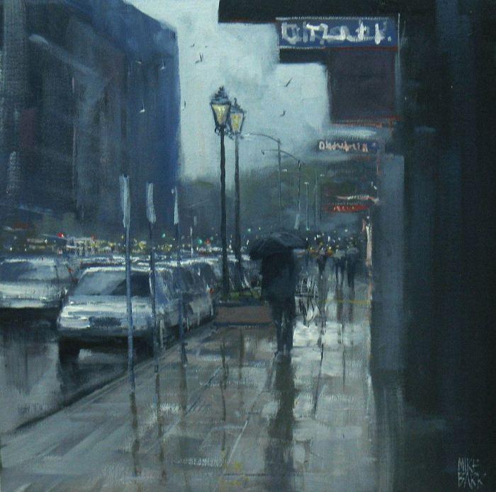 Дождь в городе и пляжи. Mike Barr