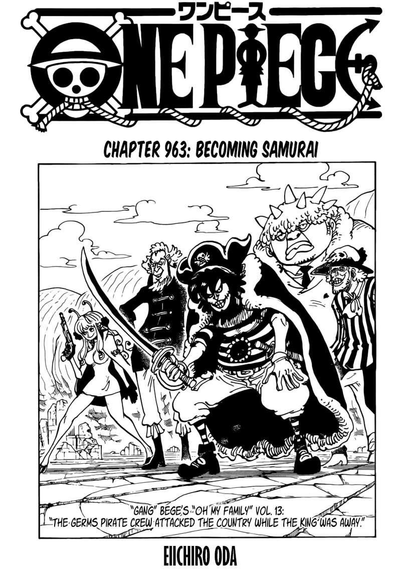 One Piece Scan 960 : piece, Piece,, Chapter, Kozuki, Takes, Stage, Piece, Manga, Online