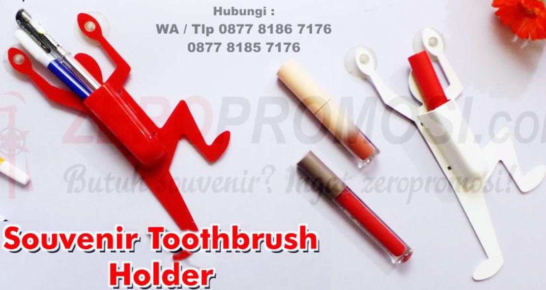 Gantungan untuk sikat gigi dengan bentuk orang, Souvenir Toothbrush Holder, Penyangga Sikat Gigi, Toothbrush Case