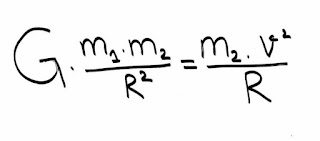 معادلة سرعة القمر الصناعي
