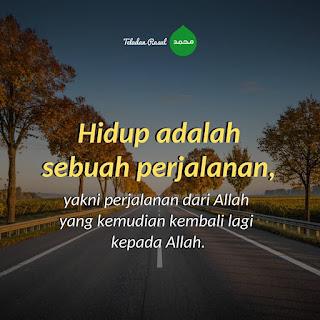 kata mutiara islam hdup adalah perjalanan