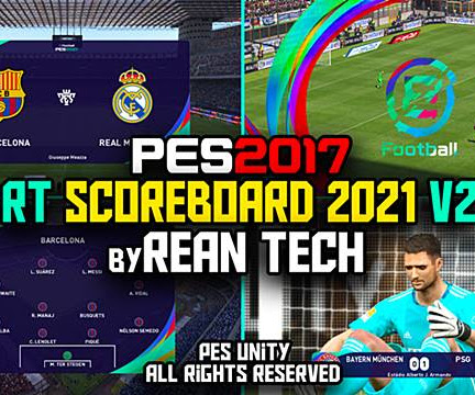 PES 2017 RT Scoreboard PES 2021 V2 + Replay Logo