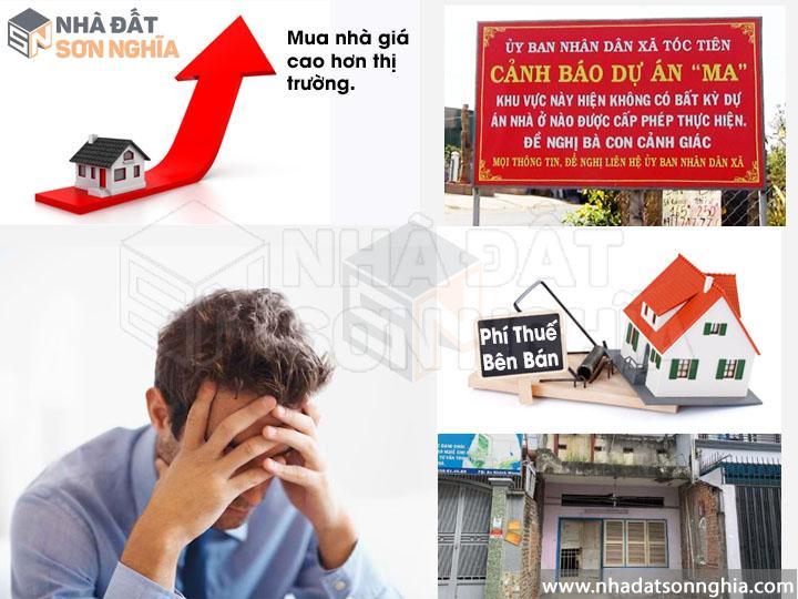 Rủi ro khi tự mua nhà không qua môi giới