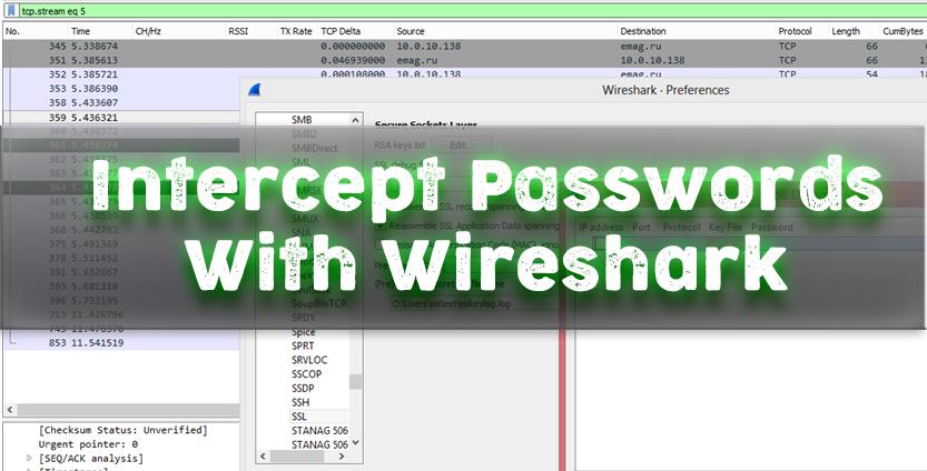 find a password in wireshark