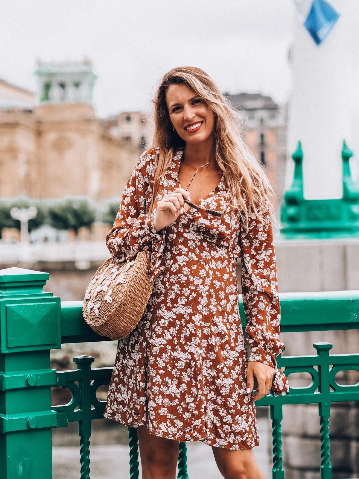 vestido flores otoño 2019