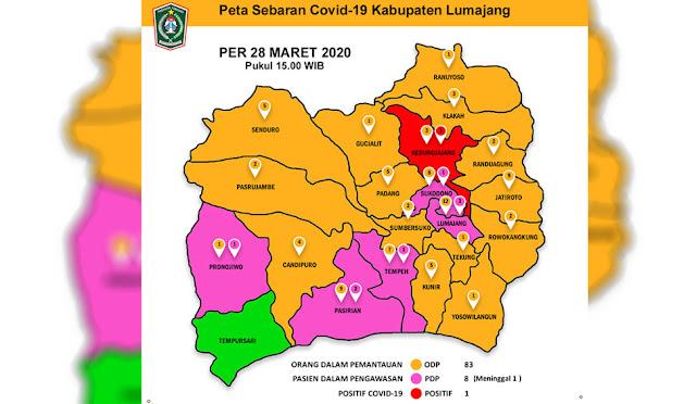 Peta Sebaran Covid-19 di Kabupaten Lumajang