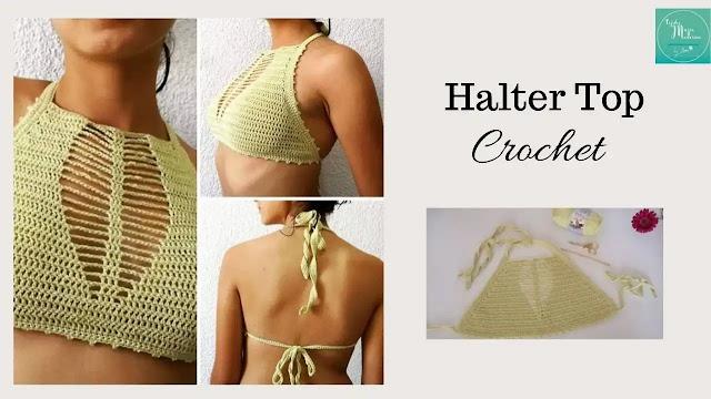 Tutorial Halter Top a Crochet Paso a Paso