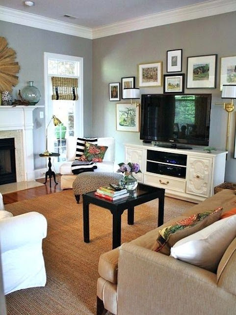 Small Living Room Layout With Fireplace