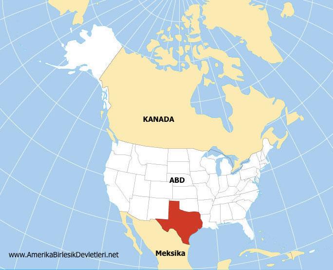 Texas harita