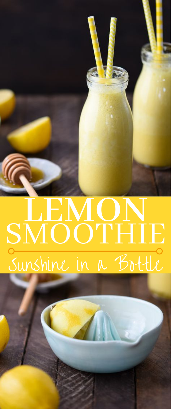 Lemon Smoothie (Sunshine in a Bottle!) #drinks #smoothies