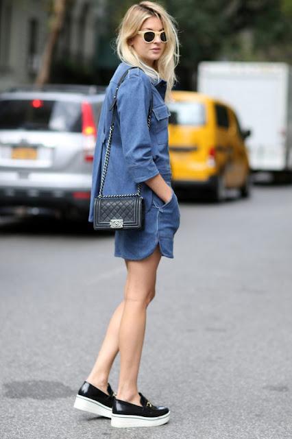 abiti in denim tendenza estate 21 abiti in jeans outfit abito jeans outfit vestito jeans moda estate 2021 colorblock by felym fashion blogger italiane blog di moda fashion bloggers italy