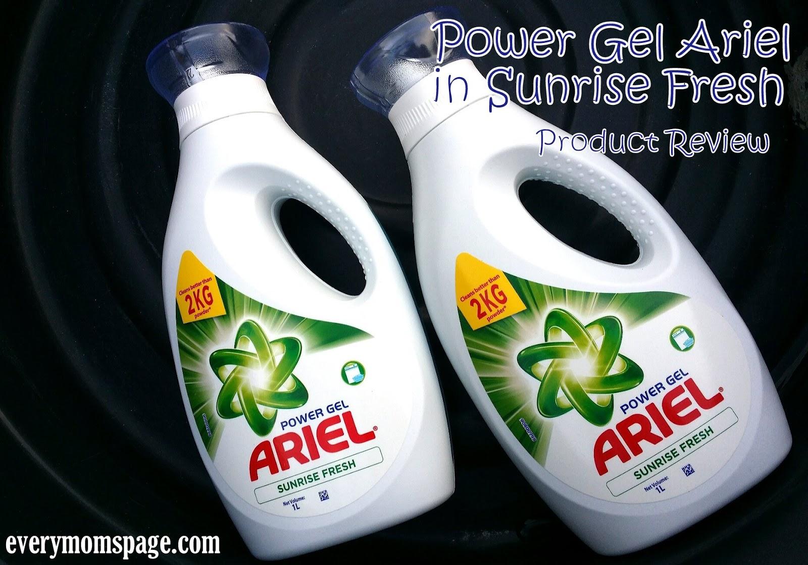 EveryMom'sPage: Power Gel Ariel in Sunrise Fresh Review