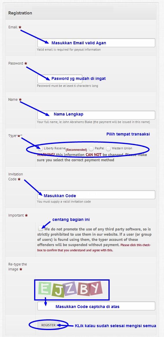 Cara daftar dan invitation code megatypers ade oktafians lalu klik free signup lalu akan muncul formulir pendaftaran seperti ini stopboris Choice Image