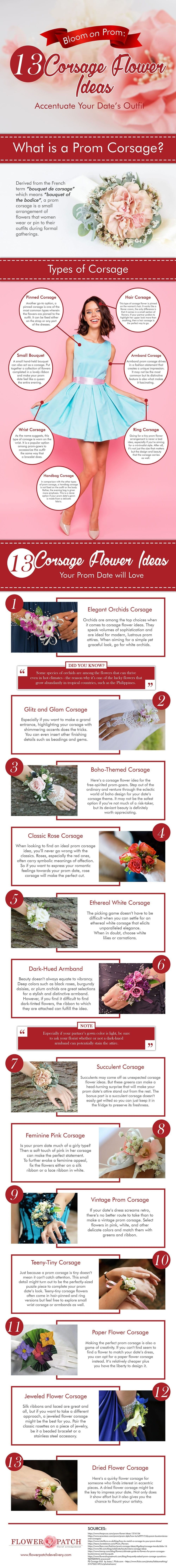 13 Corsage Flower Ideas for Your Prom Night #infographic