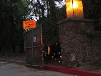 Exiting the park...This Gate Closes at Sunset