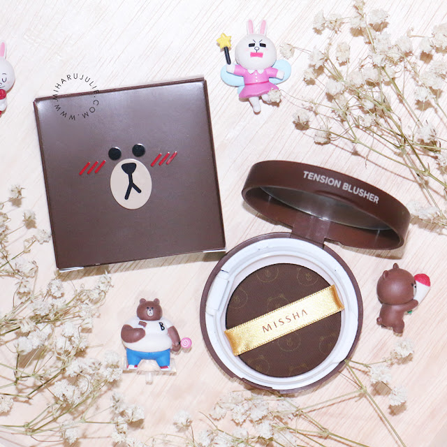 missha line friends tension blusher