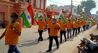 भारत विकास परिषद द्वारा तिरंगा यात्रा का आयोजन
