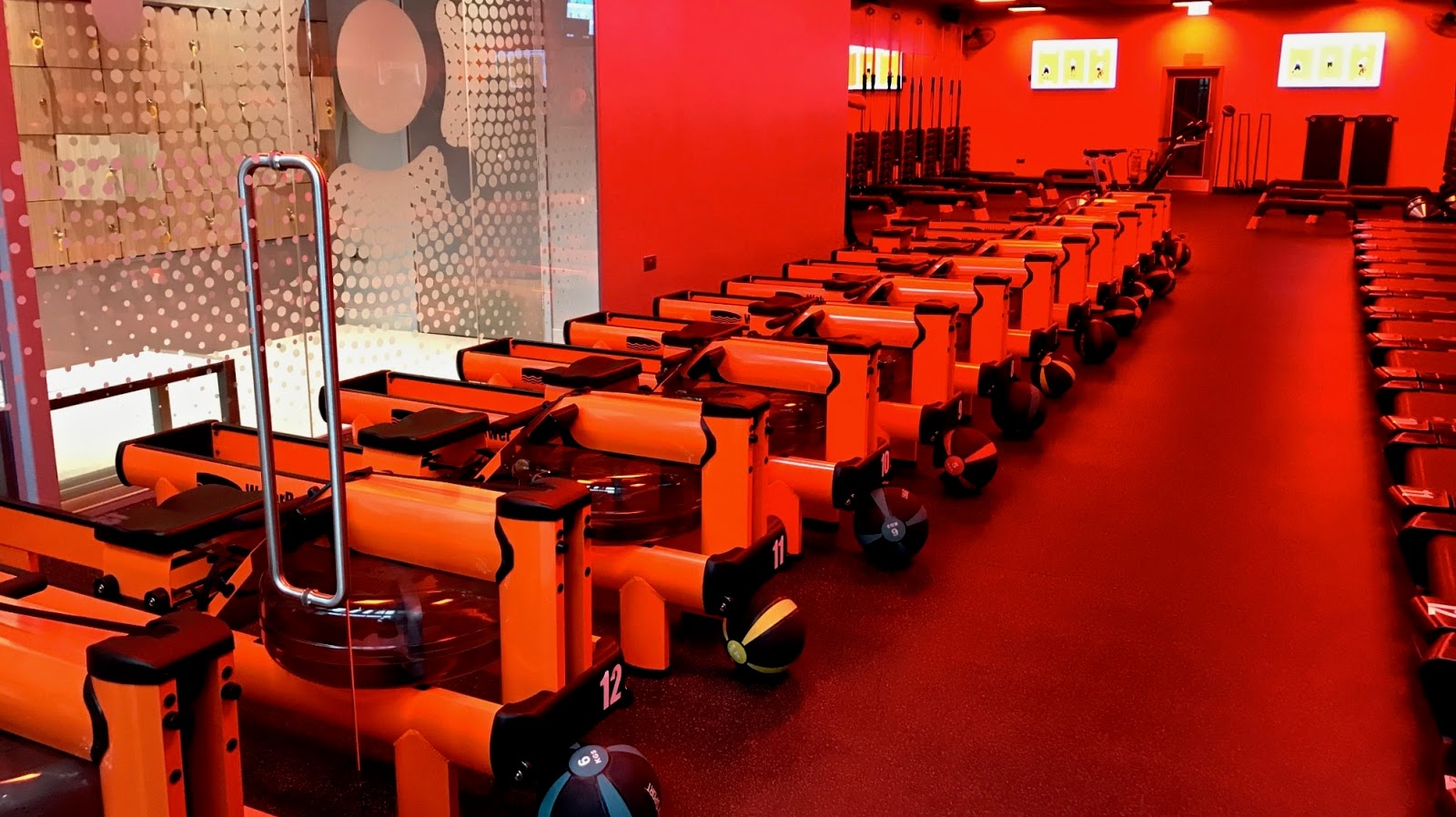 water rowing machines at Orangetheory Wandsworth