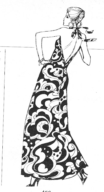 The Vintage Pattern Files: Free 1970's Sewing Pattern - Halter Neck Maxi Dress
