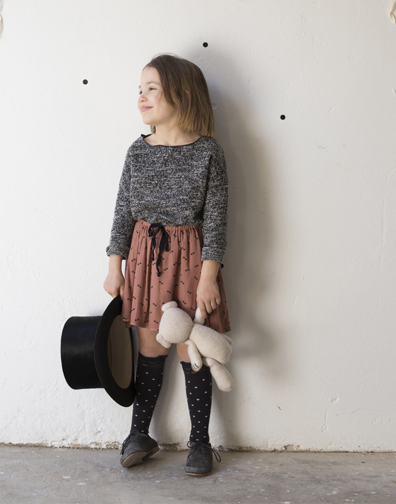 Buho Barcelona AW16 kidswear collection - knit jumper and skirt