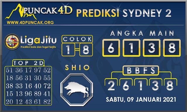 PREDIKSI TOGEL SYDNEY2 PUNCAK4D 09 JANUARI 2021