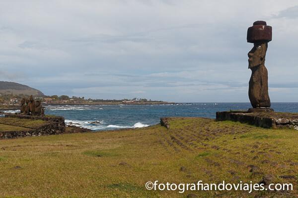 Ahu Tahai en Isla de Pascua, Chile