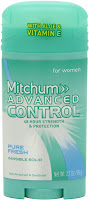 The Best Antiperspirant/Deodorant: Mitchum For Women Advanced Control in Pure Fresh)
