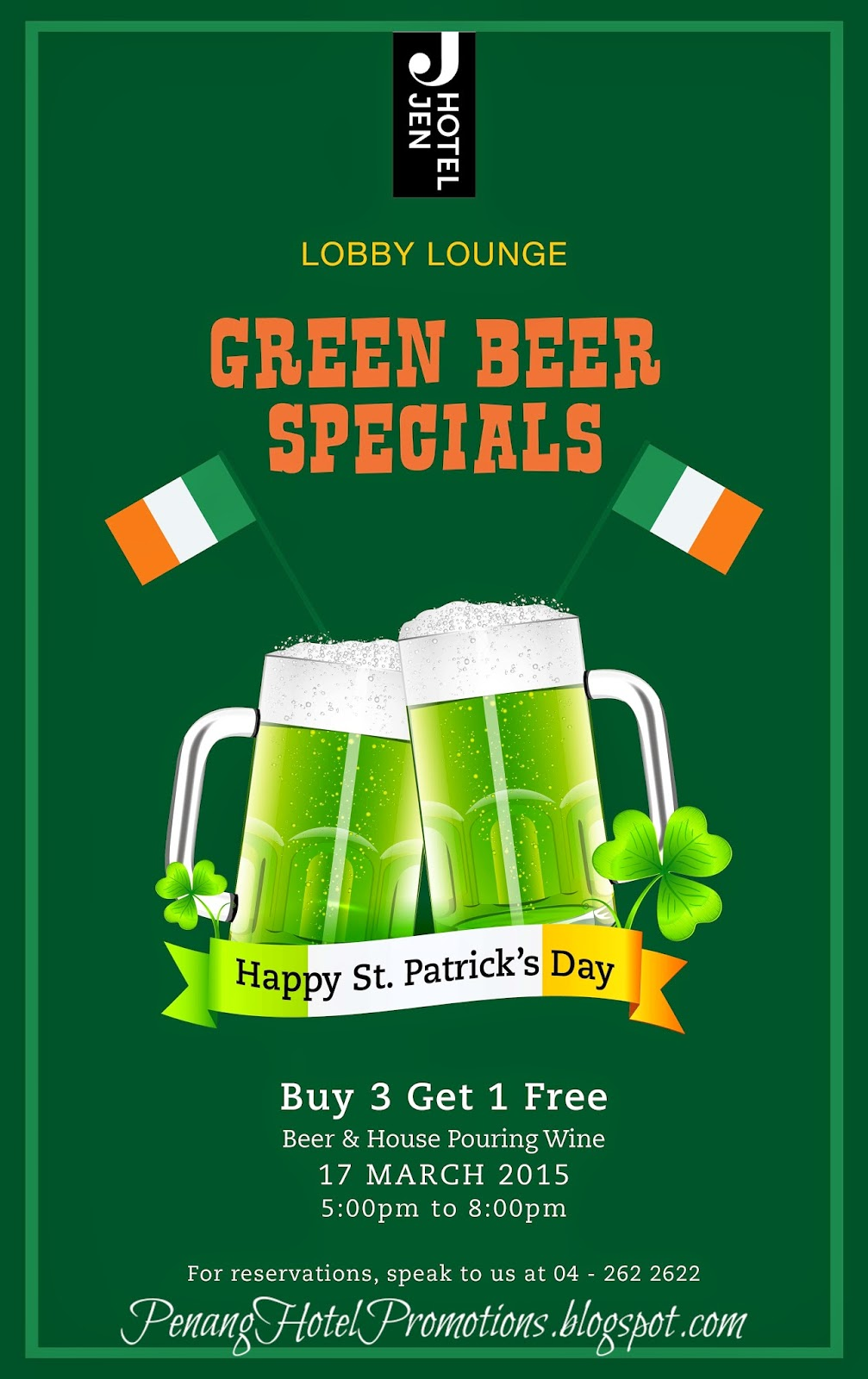 The best site for hotel deals on St Patricks Day.