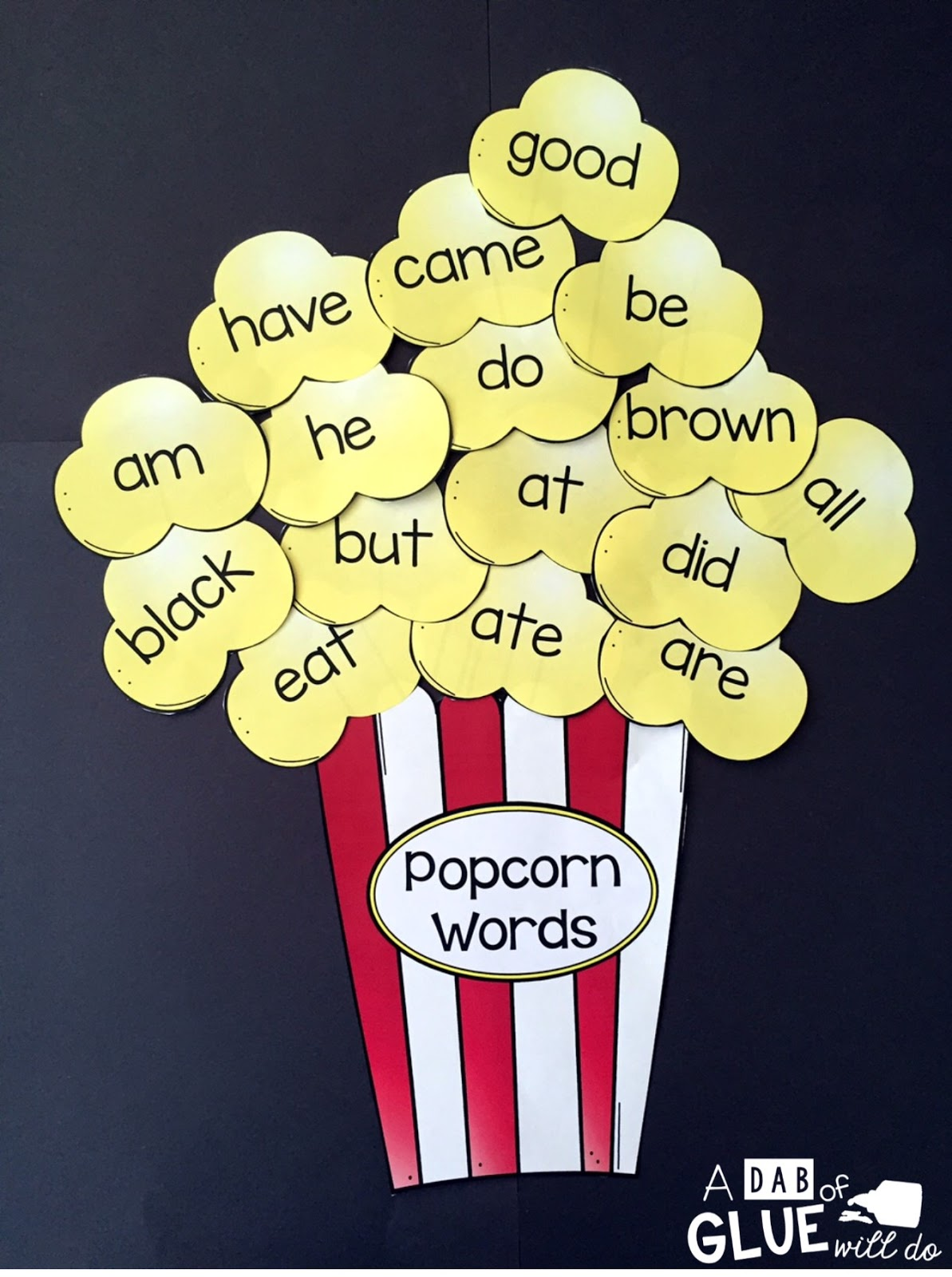 Winner Wednesday Popcorn Words Bundle Dolch Primer