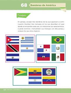 Apoyo Primaria Desafíos Matemáticos 5to Grado Bloque IV Lección 68 Banderas de América