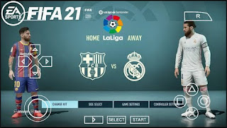 Download FIFA 21 PPSSPP Official Android New Menu Faces & Peter Drury Comentatory
