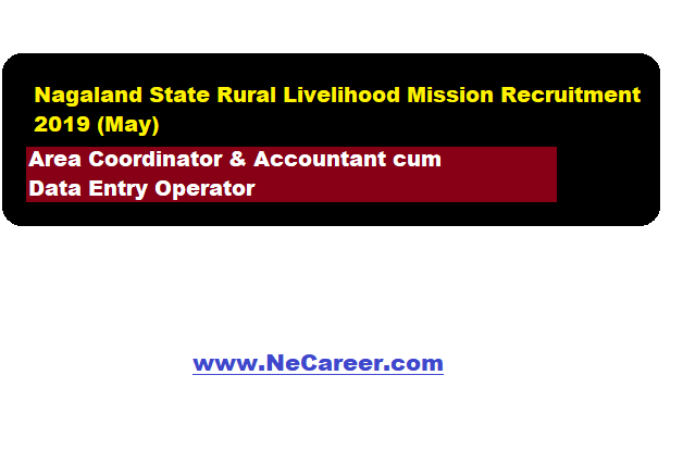 Nagaland State Rural Livelihood Mission Recruitment 2019 (May)