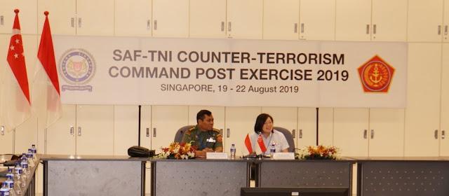 TNI-SAF Selenggarakan Latma Counter Terrorism Command Post Exercise
