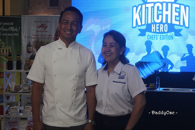 Solane Kitchen Hero Ambassador Chef Sa del Rosario and Solane Kitchen Hero competition director Nancy Reyes-Lumen