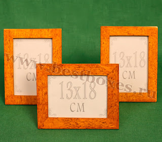 Рамочки для фотографий 13x18 прямоугольная карельская береза, общая