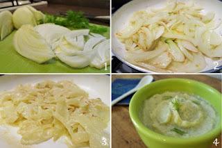 foto preparazione ricetta mousse di finocchio per bambini