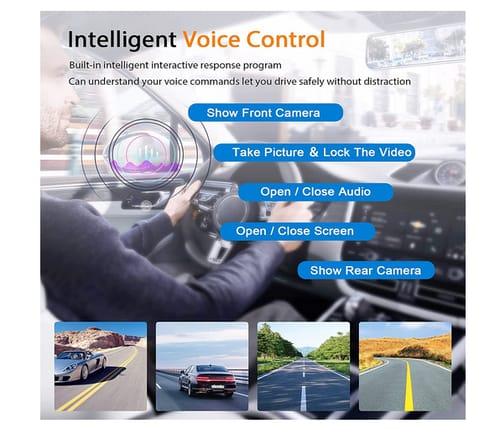 Jansite Upgrade Voice Control 2.5K Mirror Dash Cam